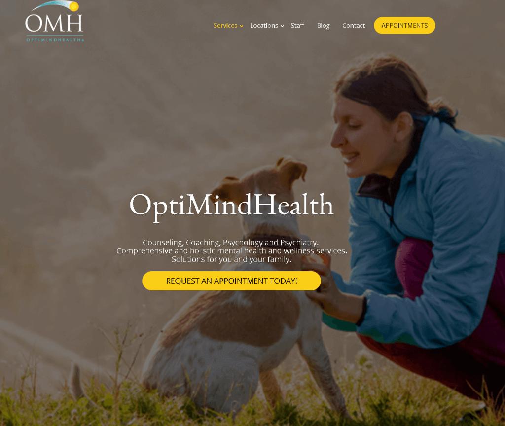 Optimind Health CAKE App Screenshot