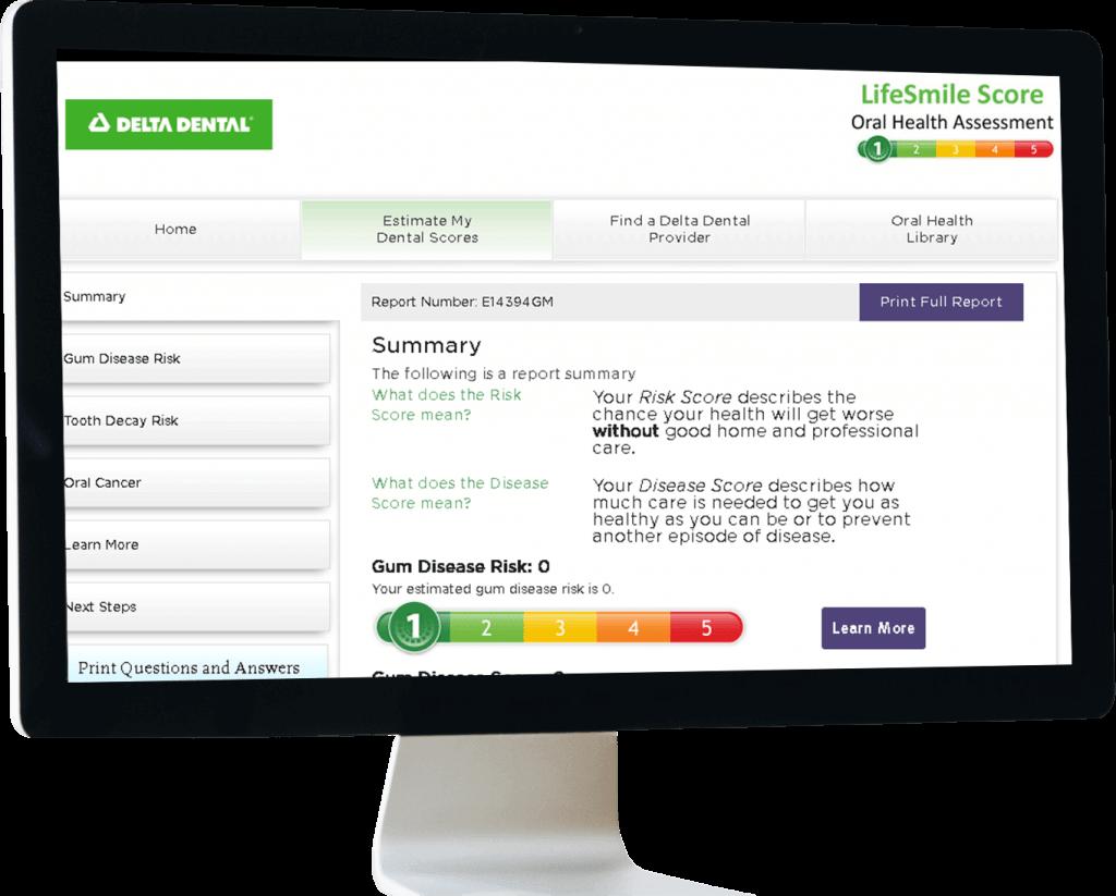 Delta Dental Website on Monitor